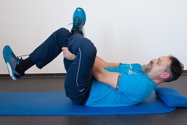 Dehnung Piriformis Physiotherapie Binningen