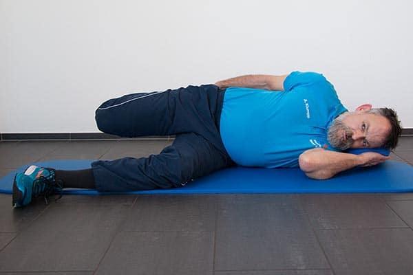 Dehnung Quadriceps Physiotherapie Binningen