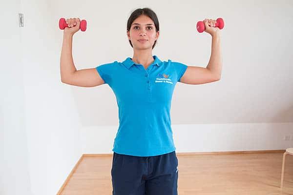 Zentrierende Schulterkraeftigung  Physiotherapie Binningen